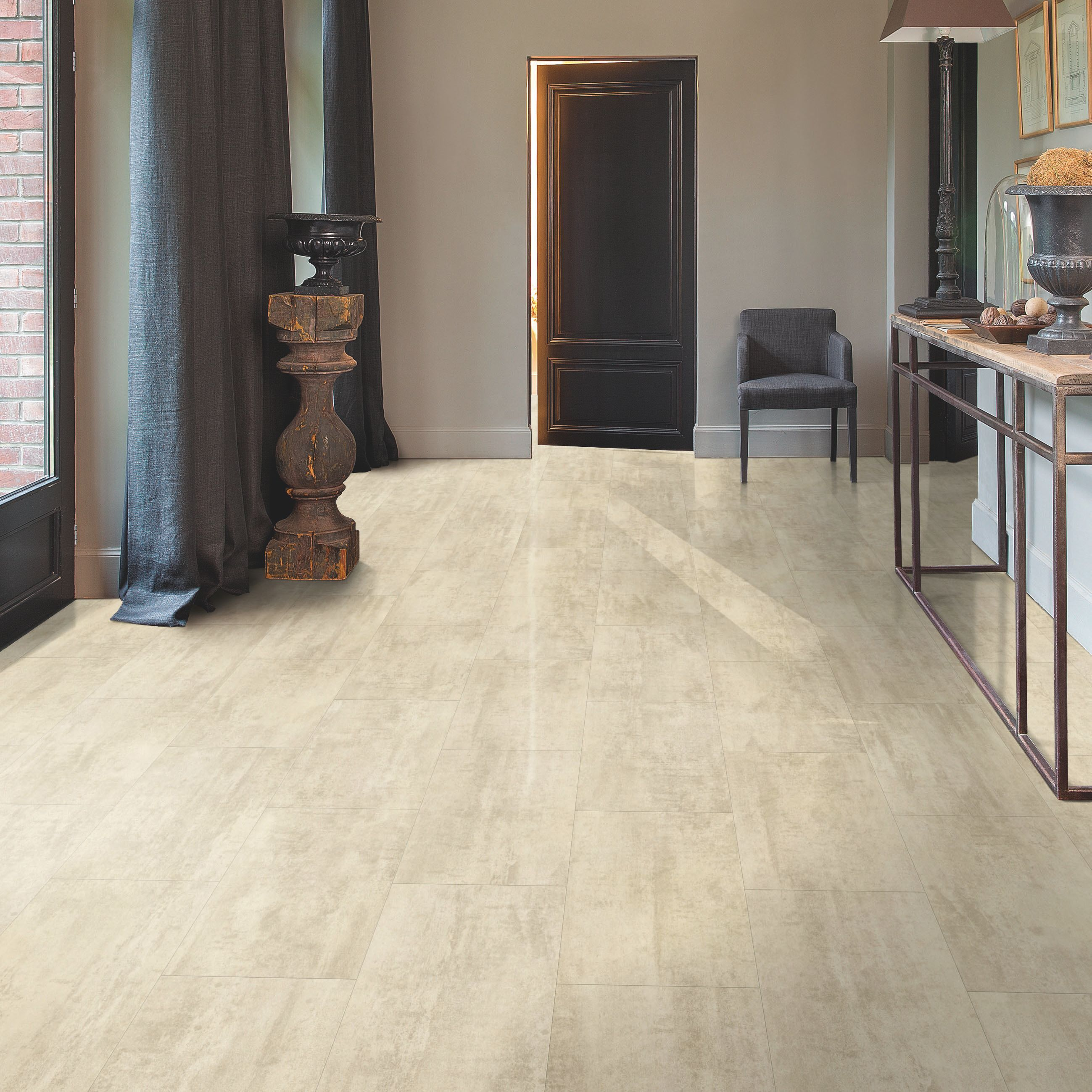step lima beige travertine effect waterproof luxury vinyl flooring