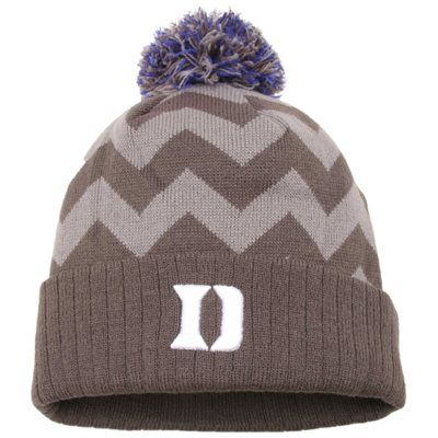 new style d0969 e1229 Duke Blue Devils Top of the World Women s Chevron Knit Hat – Gray