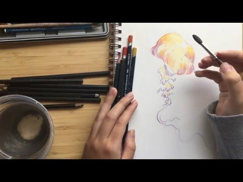 How To Use Watercolour Pencils Youtube Watercolor Pencil Art