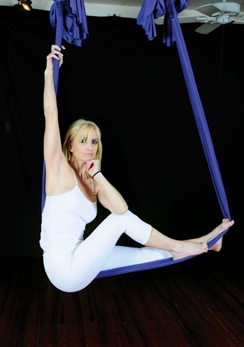 aerial silks yoga flexibility in flight studio in chester
