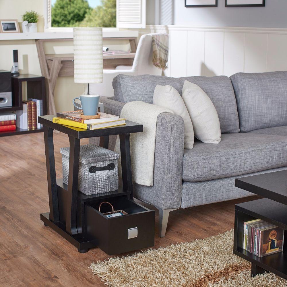 Best Black End Tables Living Room Set Of 2 Black End Accent 640 x 480