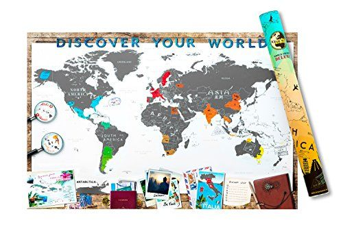 Scrape map personalized xxl size world edition unique and scrape map personalized xxl size world edition unique and luxurious large world map poster with a layer to scrape off the places youve visited gumiabroncs