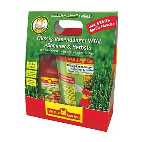 WOLF-Garten Set LV 250 R Fl�ssig-Rasend�nger VITAL Sommer und Herbst 4009269388818, 30 x 130 x 350 cm, rot/gelb, 3848035
