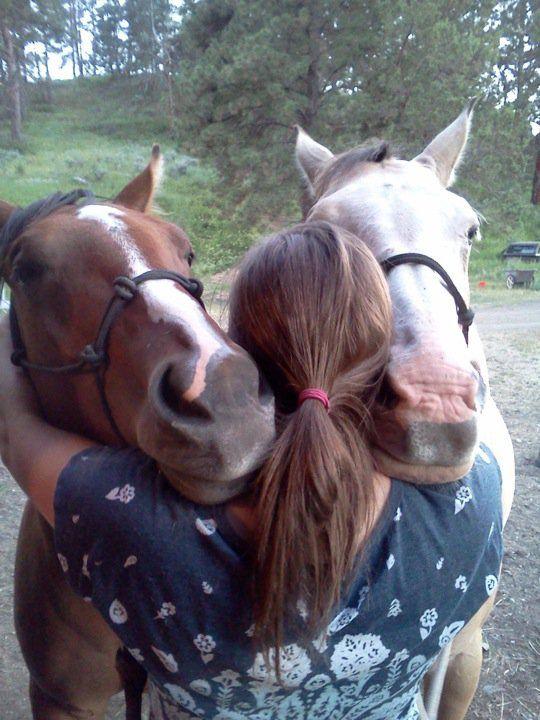 Group hug with my horses!! <3