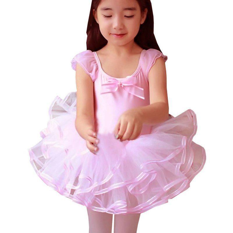5a30606c556e Cute Girls Ballet Dress For Children Dance Clothing Kids Costumes ...