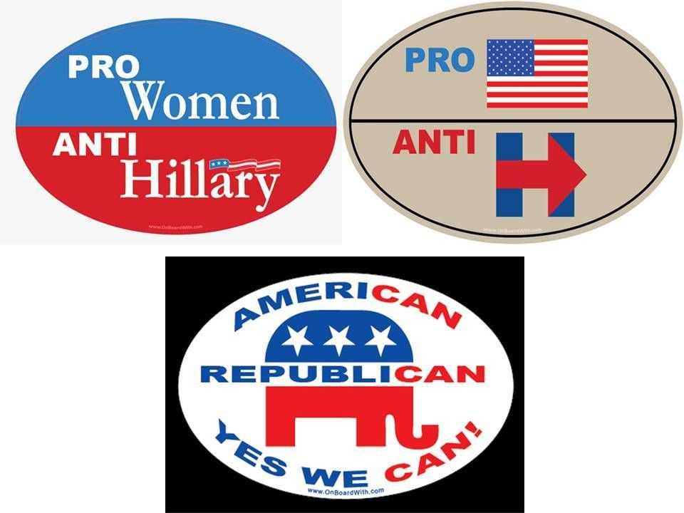 Buy now for just 4 29 4x6 oval bumper sticker 3 pack qty 1 pro women anti hillary qty 1 pro america anti hillary american republican