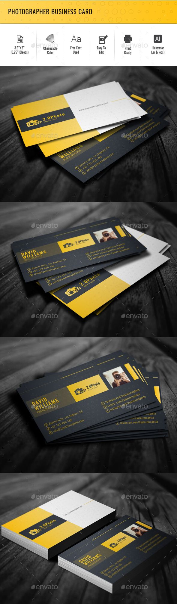 Photographer business card photographer business cards business photographer business card creative business cards download here httpsgraphicriveritemphotographer business card 19945496refalena994 reheart Images