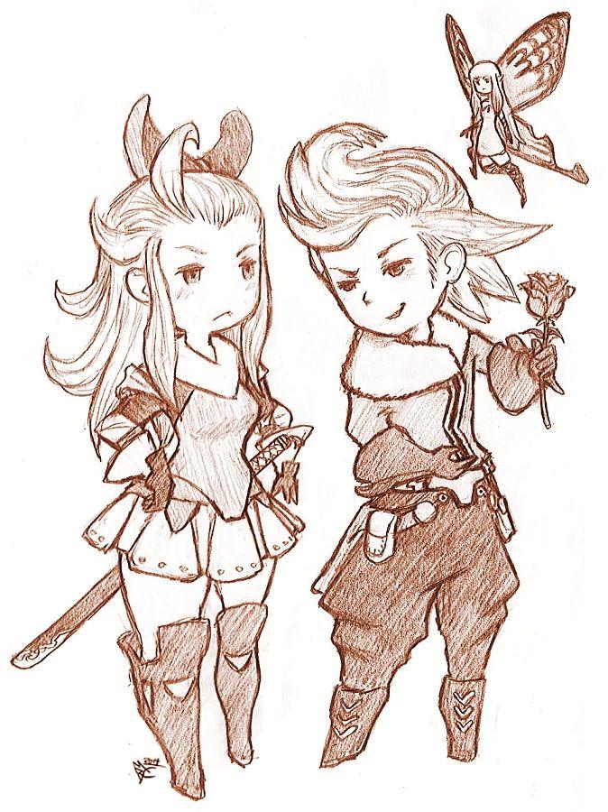 Edea and Ringabel by EmperorAtma