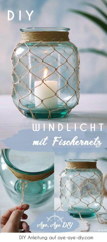 Photo of DIY Windlicht mit Makramee Fischernetz selber machen I Anleitung