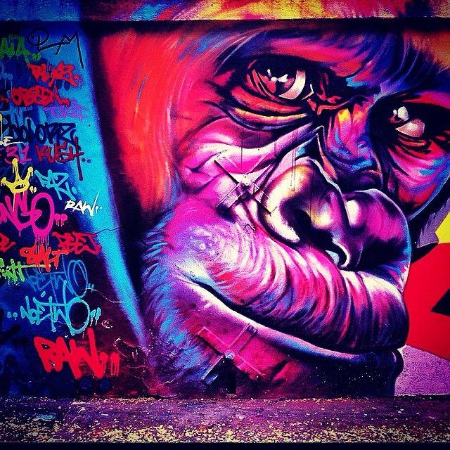 Parisian graffiti #graffiti #paris #picoftheday #wanderlust #travel #art #beautiful #colour #street #ape #travelgram