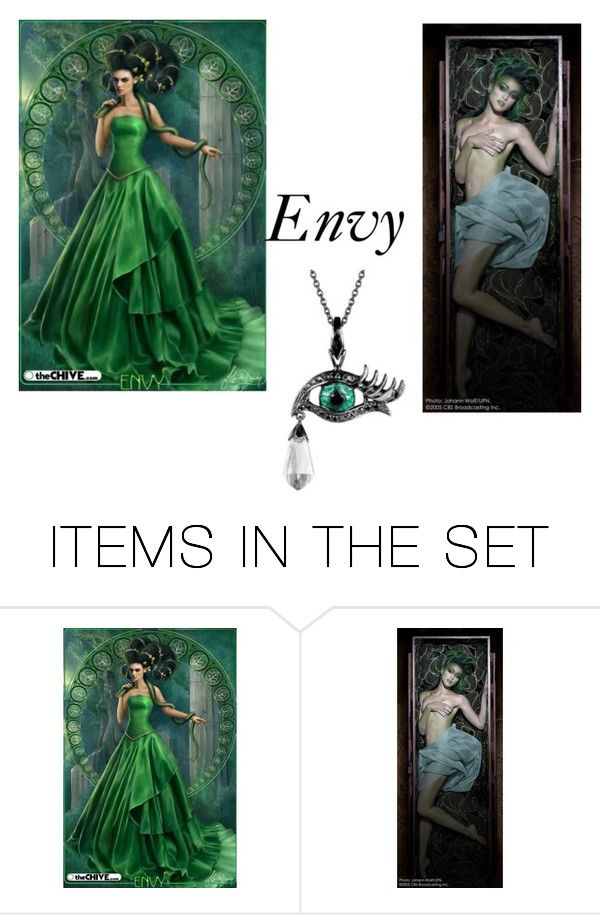 """Envy"" by queenharley666 ❤ liked on Polyvore featuring art"