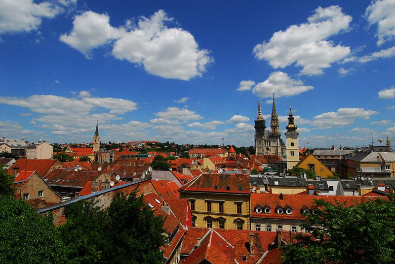 The View Of Zagreb From Gornji Grad Croatia Vacation Places To Visit Beautiful Locations