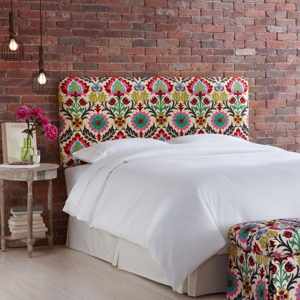 Bought This Fabric Today!!!!!!!!!!!!Waverly Santa Maria Desert Flower Upholstered Headboard