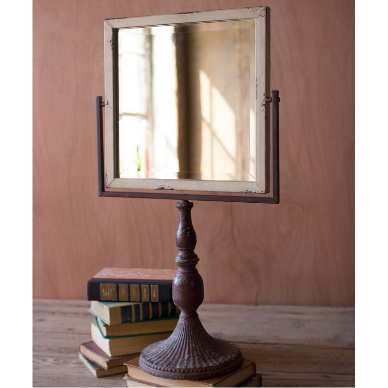 Iron Tabletop Stand Mirror