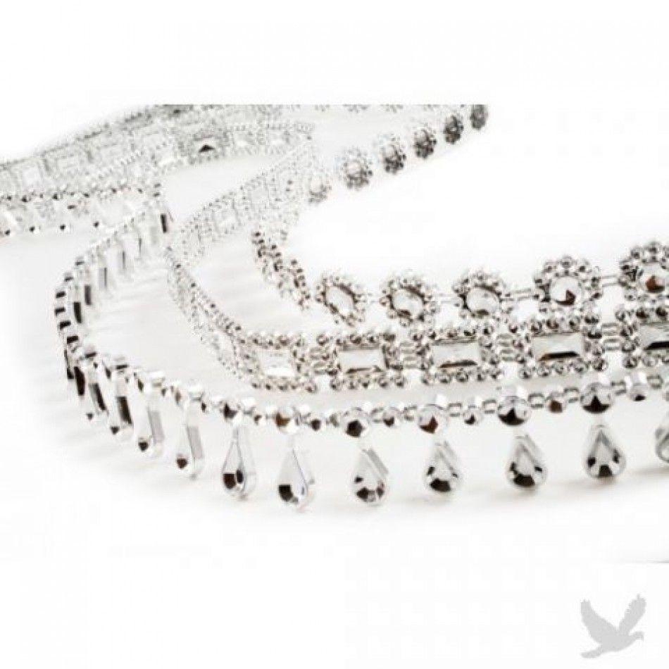Diamond Couture Metallic Simulated Rhinestone Trim - 10 Ft. [Diamond ...