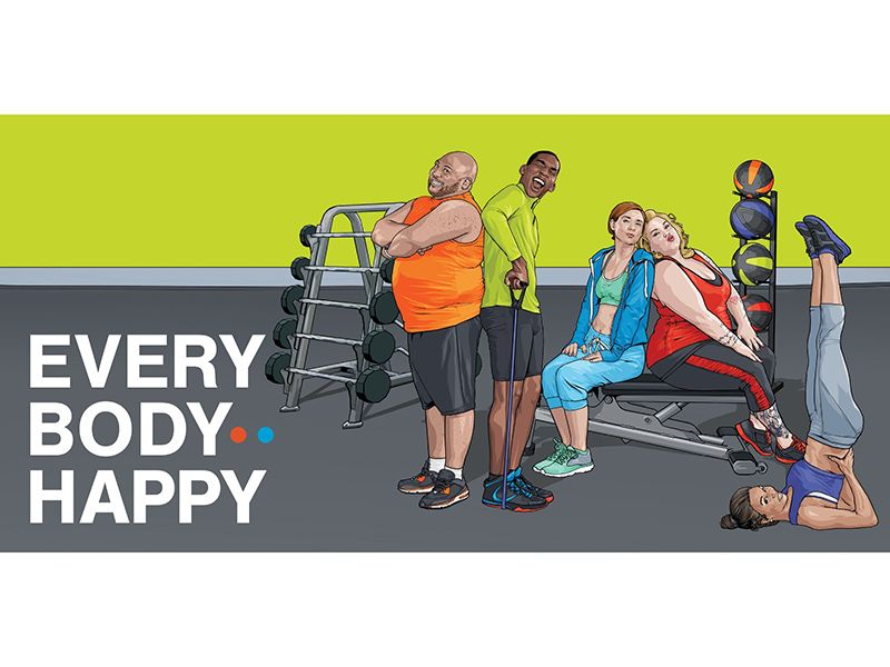 Blink Fitness Gyms Embraces Size Diversity With Every Body Happy Campaign Blink Fitness Body Shaming Fitness