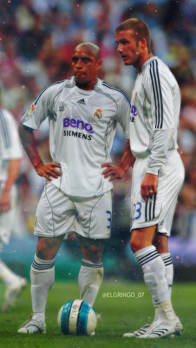 Roberto Carlos E Beckham Football Pants Ronaldo Free Kick World Football