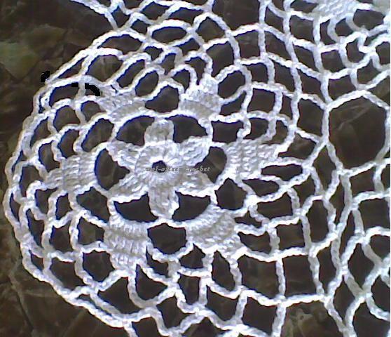 Arte em Crochet: Toalha com união de motivos em crochet | Mesa ...