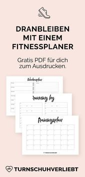 Fitness planner free to print  - Laufen | Tipps & Motivation - #fitness #free #Laufen #Motivation #P...
