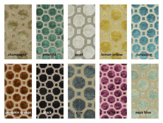 Lemon Yellow Geometric Velvet Upholstery Fabric For Furniture