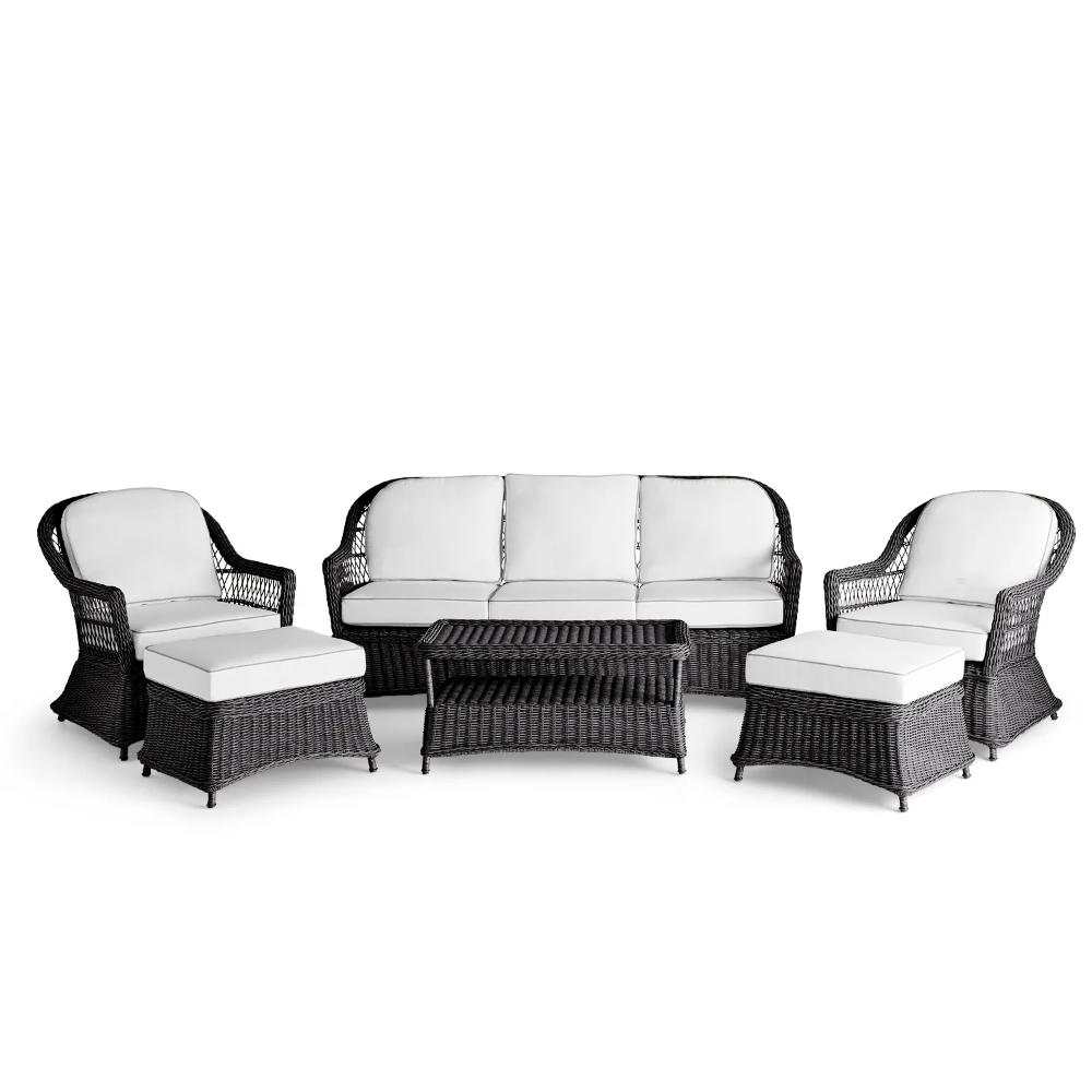 sorrento black wicker sofa patio set