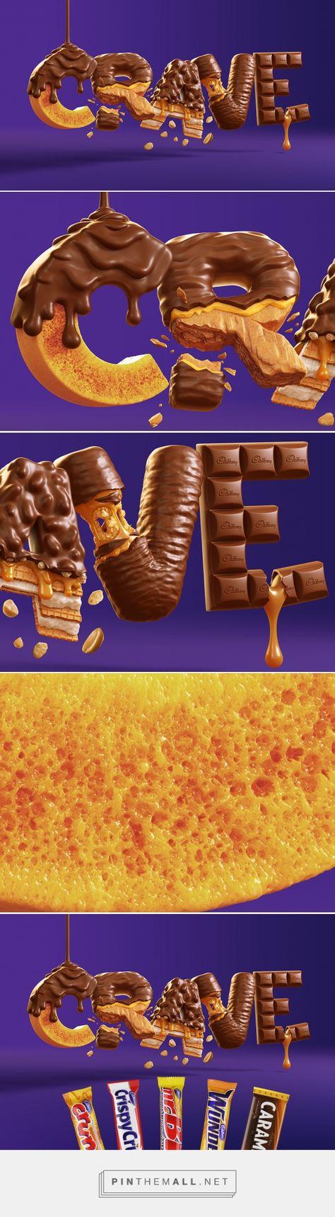 Cadbury CRAVE on Behance created via