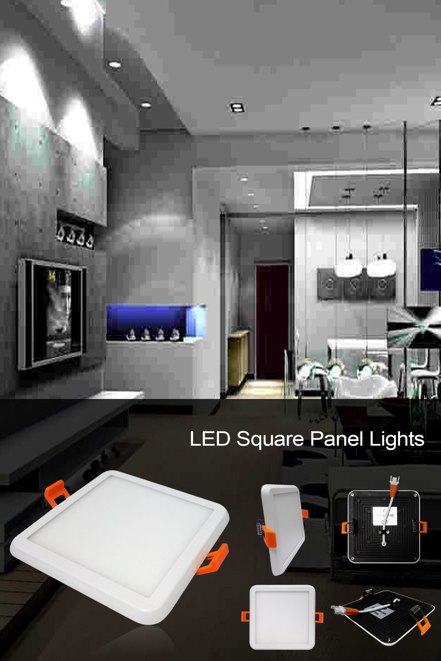 Ultra Thin Led Square Downlight For Living Room And Bedroom As Well As Office Space Products Aesthetics And So Recessed Can Lights Recessed Ceiling Long Lamp