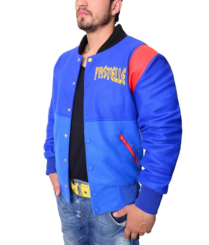 Kanye West Pastelle Rib Knitted Collar Varsity Fleece Jacket Varsity Jacket Jackets Kanye West