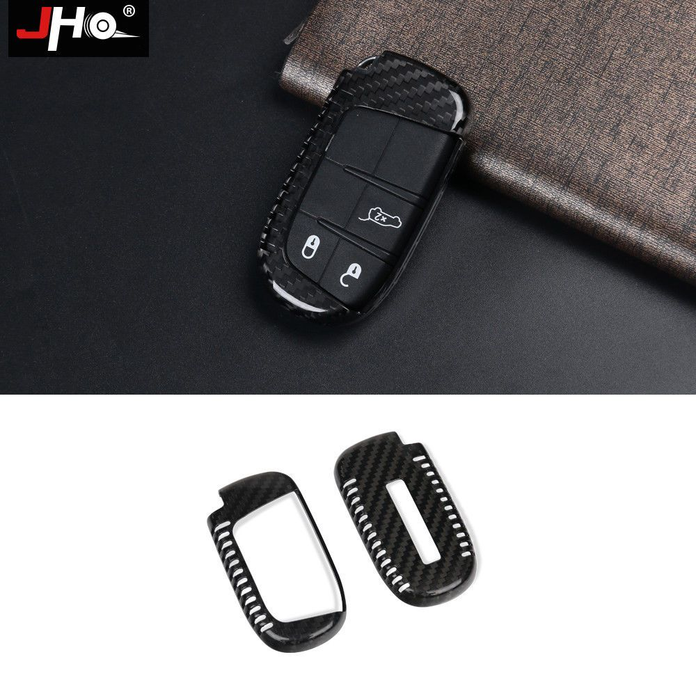 Carbon Fiber Keyless Remote Fob Key Case Cover For Jeep Grand Cherokee Dodge 16 Jeep Grand Cherokee Jeep Grand Cherokee Accessories Fobs