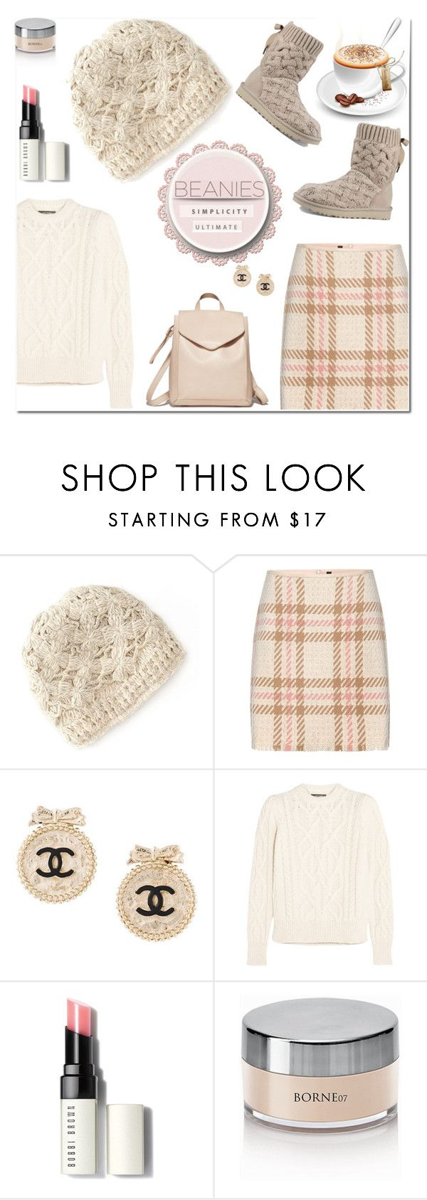 """🎀 #543 #beanies"" by wonderful-paradisaical ❤ liked on Polyvore featuring SIJJL, MARC CAIN, Loeffler Randall, Chanel, Isabel Marant, Bobbi Brown Cosmetics, UGG, trending, beanies and polyvorecontest"