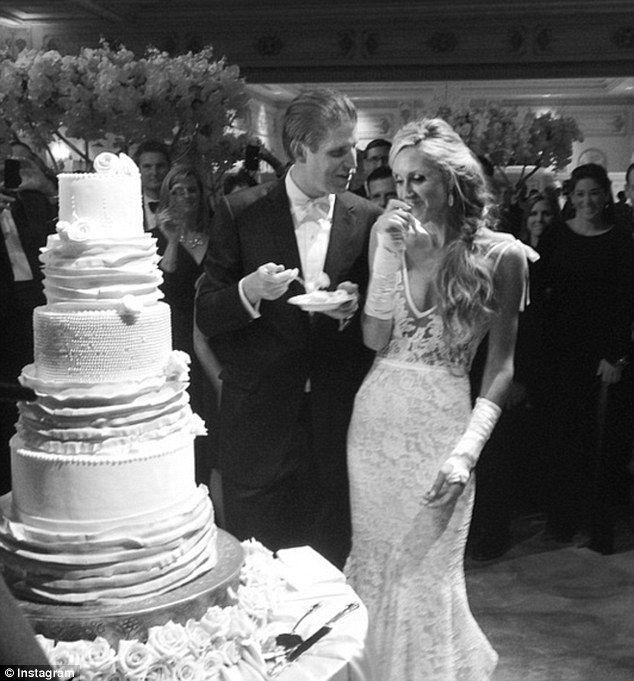 Lara Yunaska Poses With Eric Her Pas Donald Ivana And Melania Trump Weddingvera