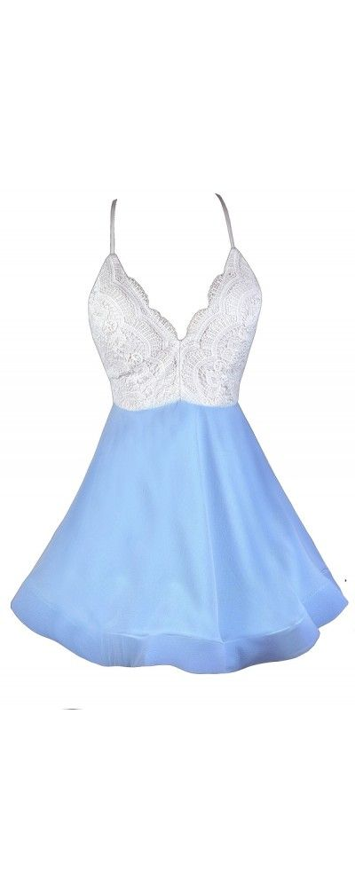 Lily Boutique Just Swing It Lace Open Back Dress in Sky Blue, $58 Sky Blue and White Dress, Pale Blue and White Dress, Sky Blue A-Line Dress, Sky Blue Party Dress, Sky Blue Cocktail Dress, Sky Blue and Ivory Lace Party Dress, Pale Blue Cocktail Dress, Sky Blue Sundress www.lilyboutique.com