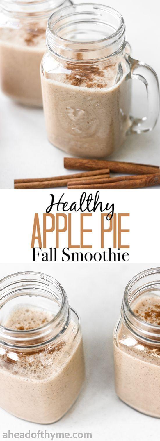 Gesunder Apfelkuchen-Fall-Smoothie #applepie