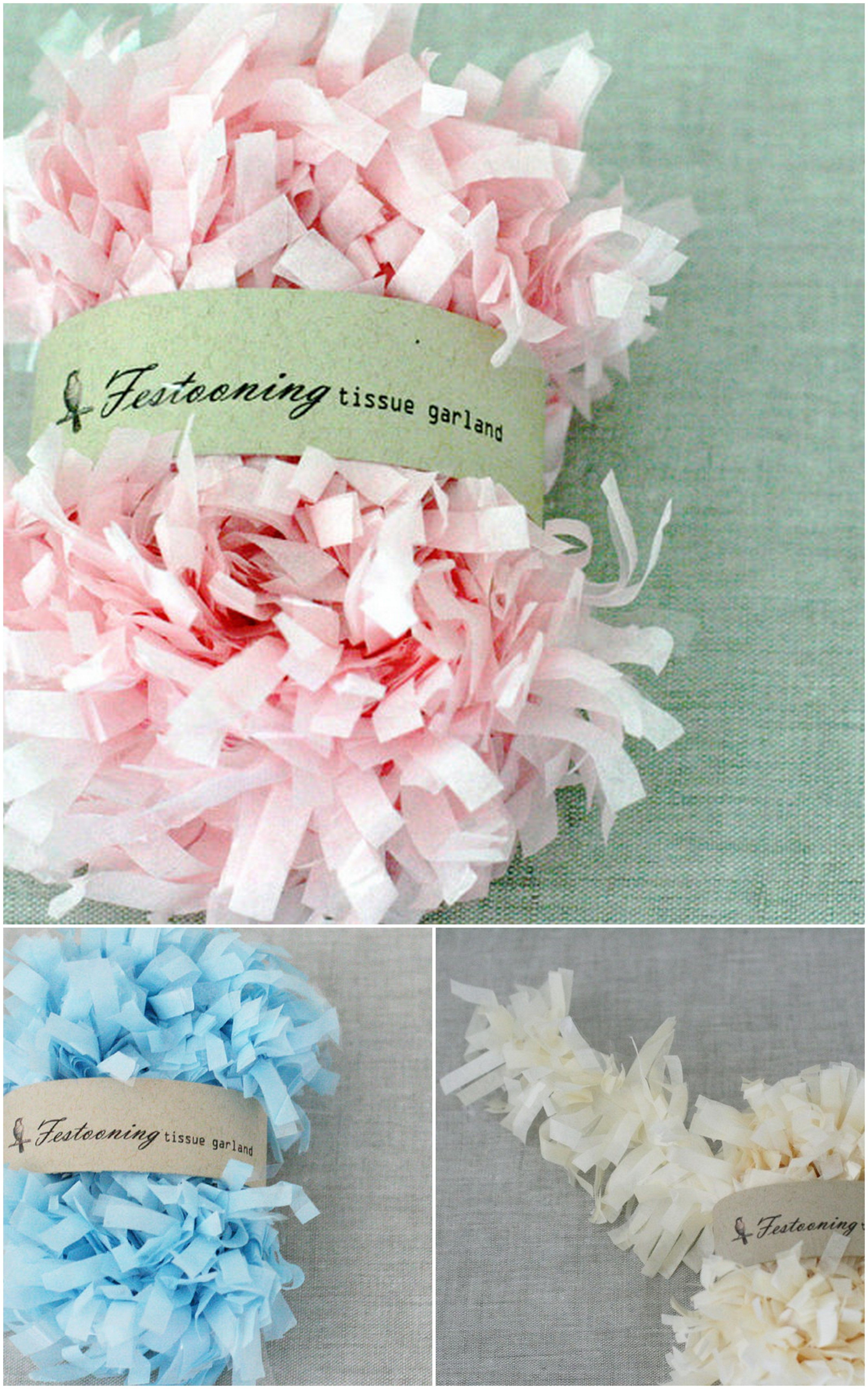 tissue paper garlands Tissue garland, Garland, Paper crafts