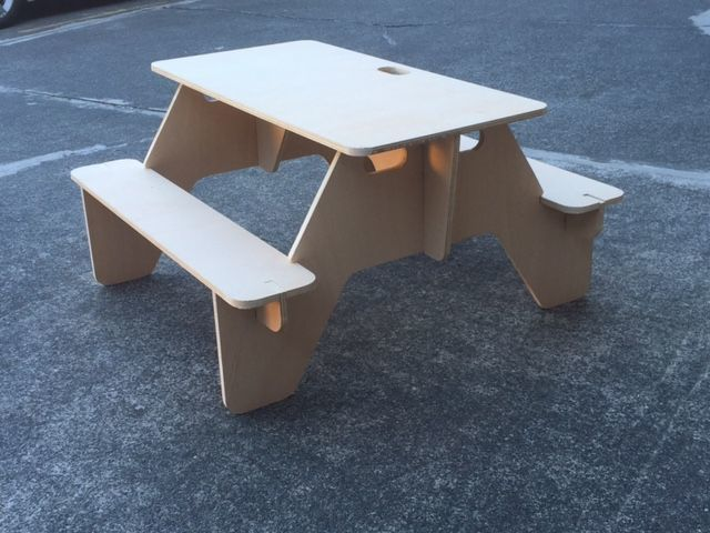 Make A Flat Pack Picnic Table That You Can Always Bring With You Picnic Table Decor Diy Picnic Table Kids Picnic Table