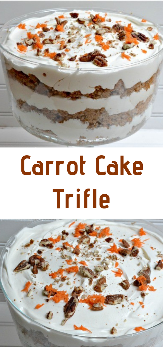 Carrot Cake Trifle #trifledesserts