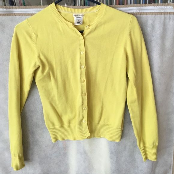 Old Navy yellow button down cardigan | Sweater cardigan, Cas and ...
