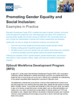 Promoting Gender Equality And Social Inclusion Examples In Practice International Development Gender Equality International Development Equality
