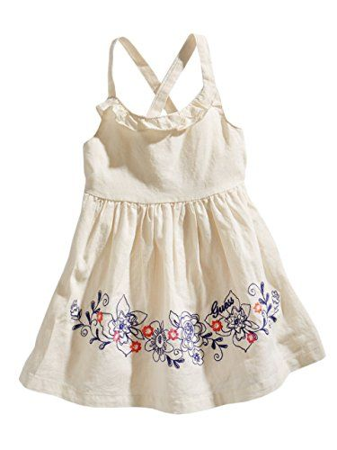 3d13701481cb1 GUESS Kids Girls Baby Girl Dress with Embroidery (12-24m), TAN (18M ...