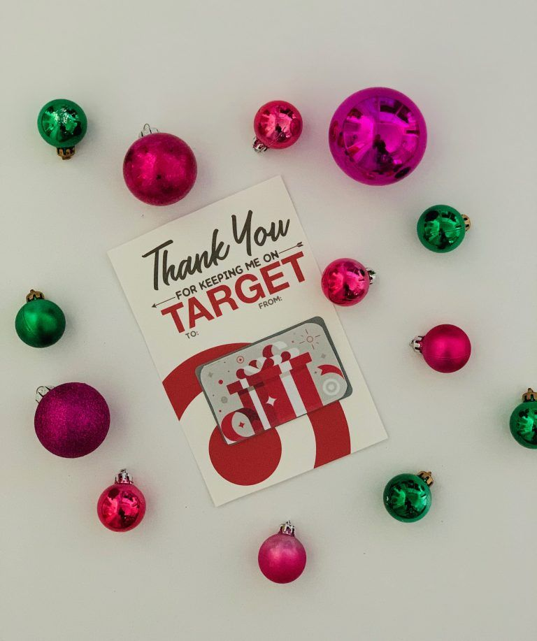 Free printable for a target gift card just posted free