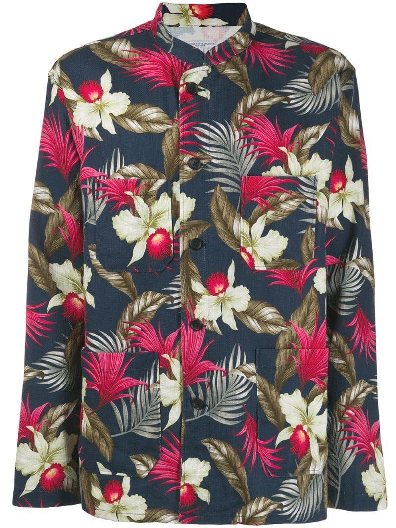 Hawaiian Floral Print Jacket Engineered Garments Print Jacket