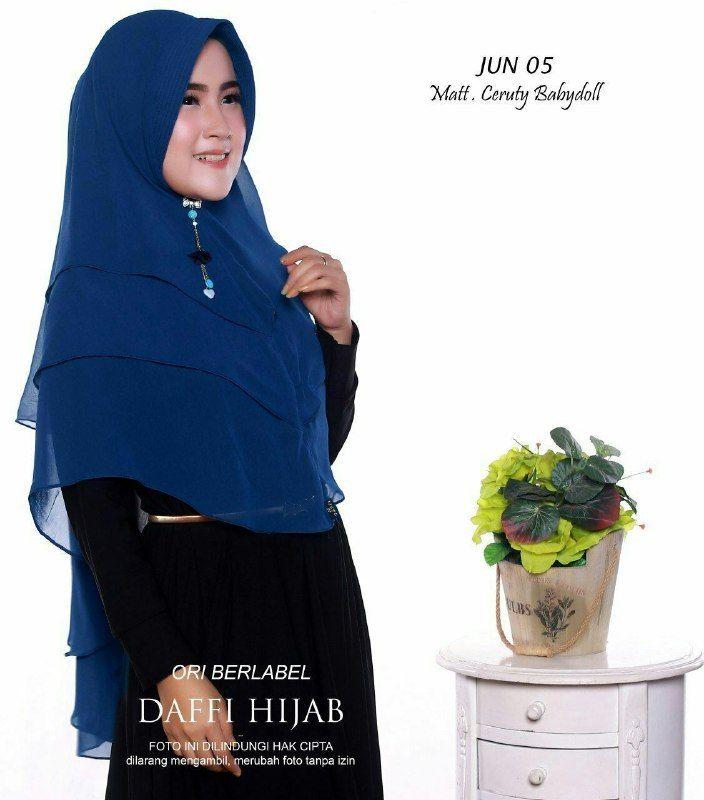 Jilbab 3 Layer Jilbab Bahan Ceruti Babydoll Ecer Idr 92 000 Grosir