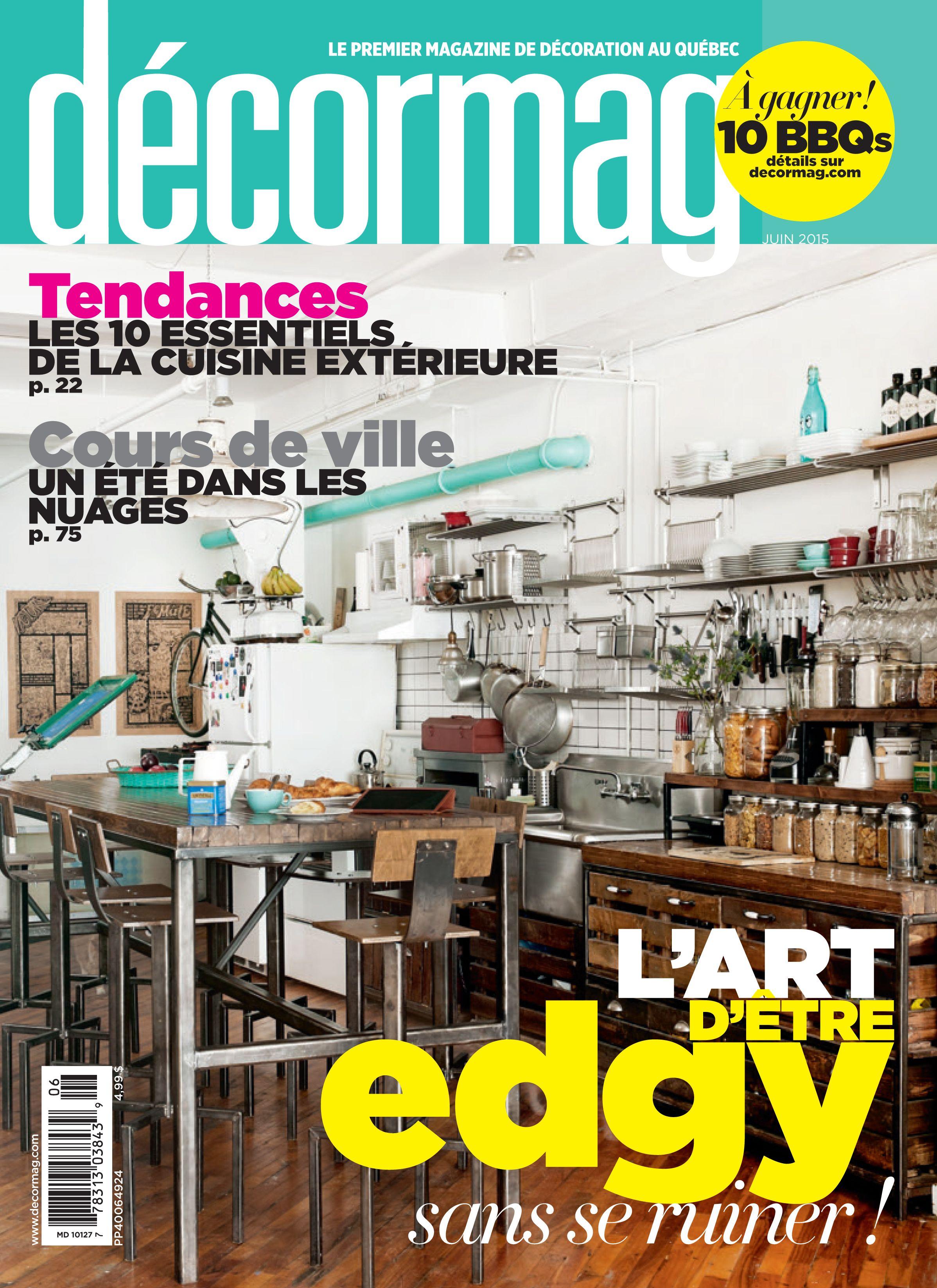 Magazine Juin 15 #deco edgy #cours urbaines #cuisine exterieure