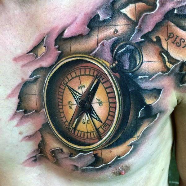 men 39 s 3d nautical compass rose tattoo tatuaggio pinterest compass rose tattoo compass. Black Bedroom Furniture Sets. Home Design Ideas