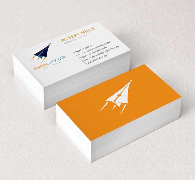 081 Travel Blogger Business Card Mockup Business Card Mock Up Business Card Inspiration Business Card Logo