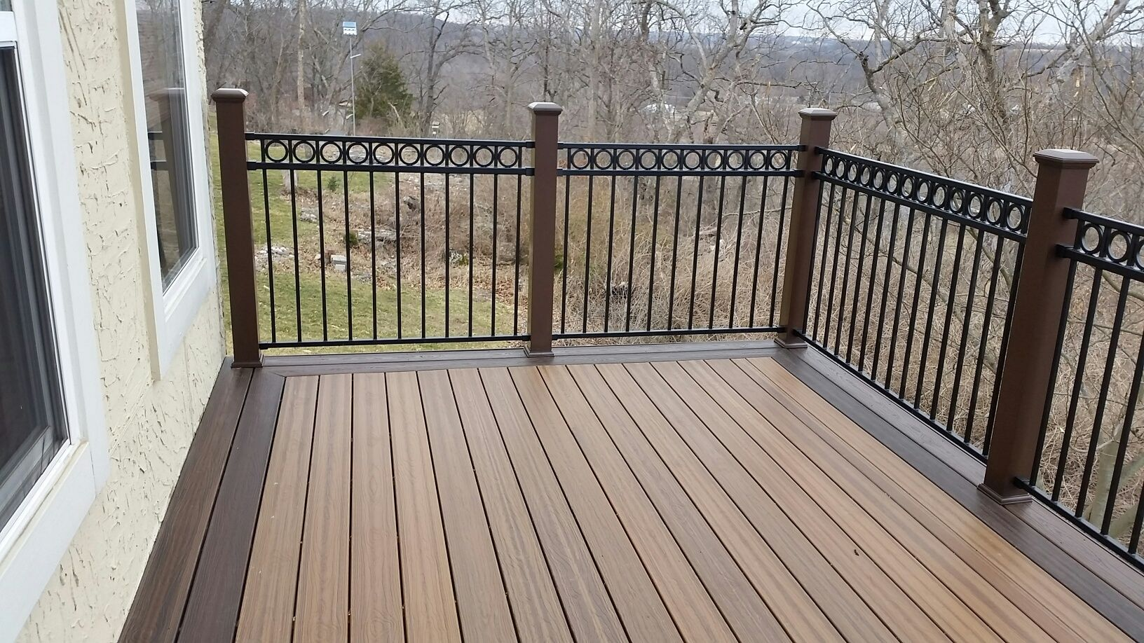 Picture frame composite deck composite decks pinterest for Composite deck railing