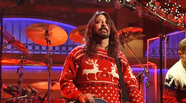 for their second song of saturday night the dave grohl led band gave the - Saturday Night Live Christmas Song