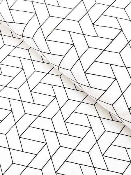 Stoff Grafische Muster Baumwolle Geometrisch Mixology Luxe Weiss Schwarz Ein Designerstuck Von Stoffaholik Graphische Muster Stoffe Zum Nahen Geometrisch