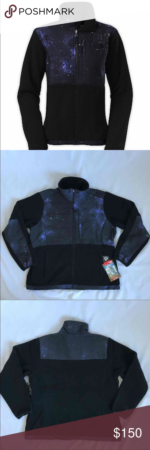 The north face fleece jacket black galactic xl new with tags the