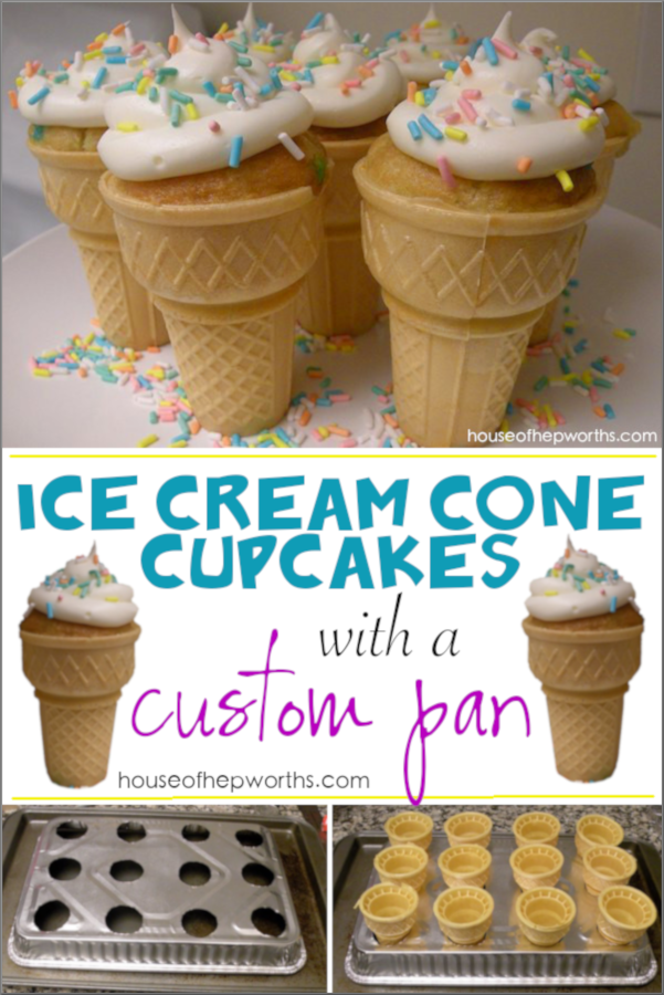 Ice Cream Cone Cupcakes With A Custom Pan Ice Cream Cone